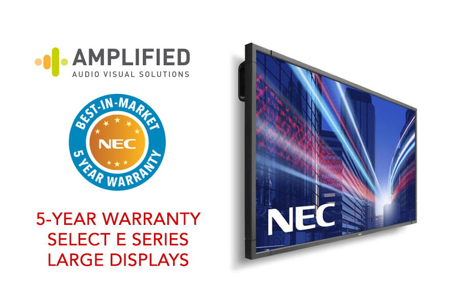 Best-In-Market 5-Year Display Warranty for NEC E-Series